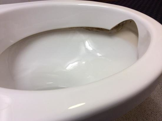 Travelodge London Central Kings Cross: Toilet - broken and doesnt appear to have ever been cleaned