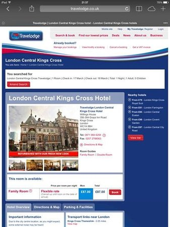 Travelodge London Central Kings Cross: Website states that the hotel has been refurbished - doest look like this was in the last ten ye
