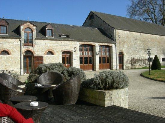 Domaine de Barive : Côté terasse
