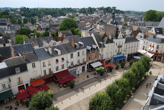 Château d'Amboise : View of the beautifully presented town of Amboise