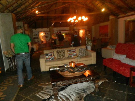 Naledi Bushcamp and Enkoveni Camp: Bar area, very well lit