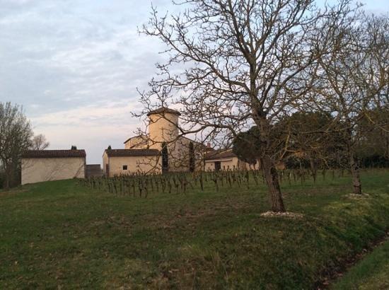 Chateau de Salettes: le chateau la salette au petit matin de printemps
