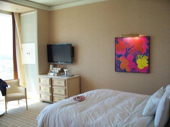 Wynn Las Vegas : Tout est commandé avec des boutons près du lit.