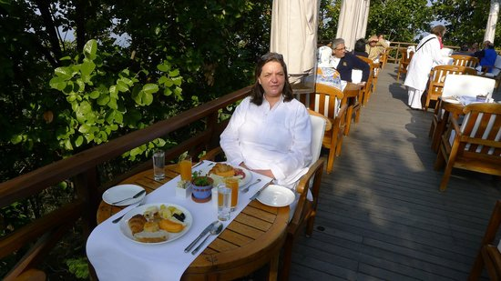 Ananda in the Himalayas: Terasse des Restaurants