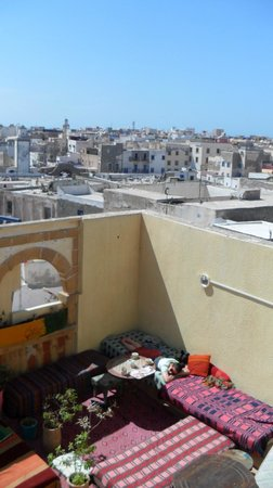 Roof and view, Atlantic Hostel