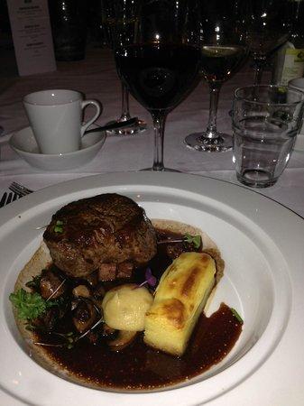 Clarion Hotel Post: Huvudrätten på kvällens middag