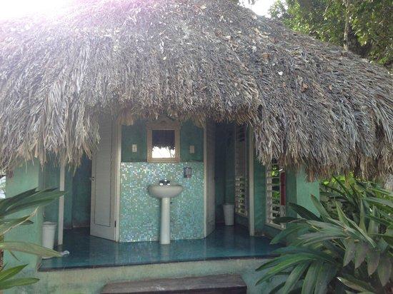 Couples Negril : Restrooms near massage area
