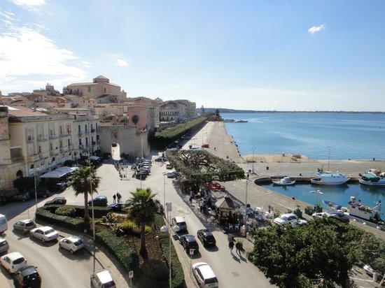Grand Hotel Ortigia: 最上階レストランからの朝の眺め
