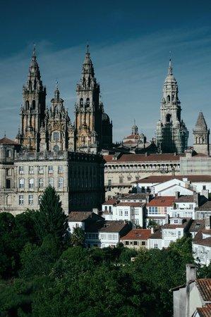 Mirador Parque da Alameda: A catedral de Santiago de Compostela vista desde o mirante do Parque Alameda