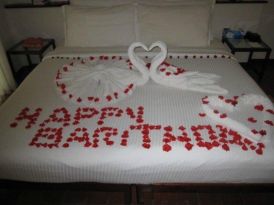 Marari Beach Resort : Voeux d'anniversaire