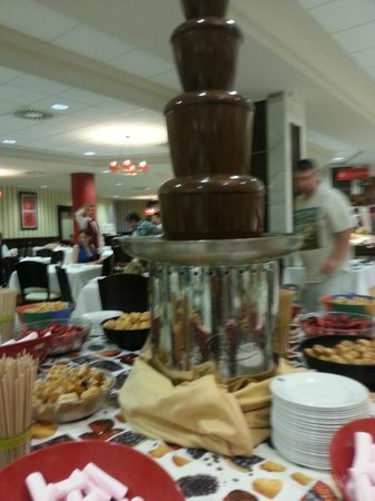 Holiday Village: chocolate fountain