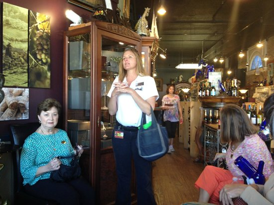 St. Augustine City Walks: Our friendly guide at a gourmet shop.....