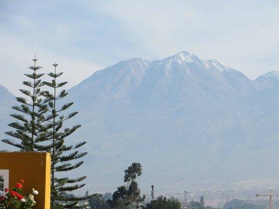 La Hosteria: vista dos vulcões de Arequipa