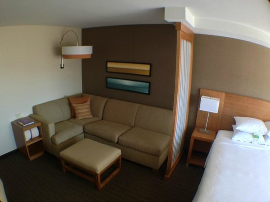 Hyatt Place Los Cabos : Large sofa in our King room