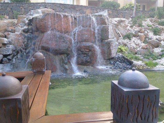 Canonnier Beachcomber Golf Resort & Spa : Cascade devant le Bar
