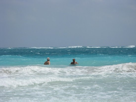 Mayan Beach : In the beautiful water (tastes as good as it looks!)