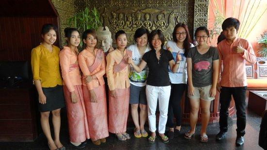 Golden Butterfly Villa: Golden Butterfly staff