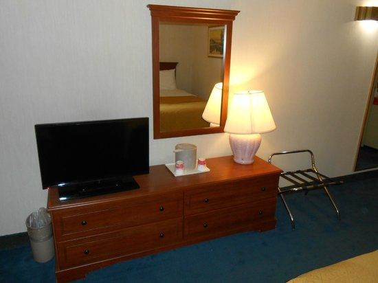 Ramada Hawthorne/LAX : Tv and other amenities like desk, coffee maker, etc.