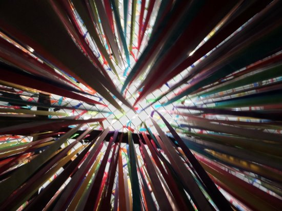 Musée Kiasma d'art contemporain (Nykytaiteen Museo) : Вид изнутри самого хитового хита Киасмы :)