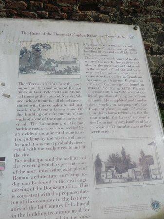 Walking in Pisa : Ruins of Terme di Nerone