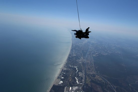 Skydive Myrtle Beach : Skydiving view above Myrtle Beach