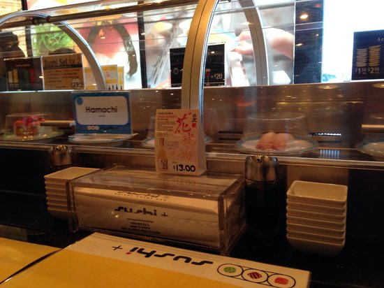 Sushi +  Rotary Sushi Bar: Rotating sushi