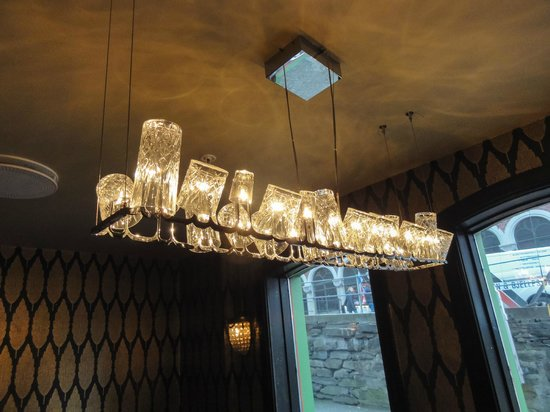 The Hanseatic Hotel: The most amazing light fitting in the dining room