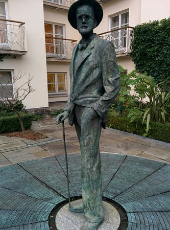 The Merrion Hotel: James Joyce... sorry the pic didn't frame well when uploaded but Google plenty of Merrion Hotel