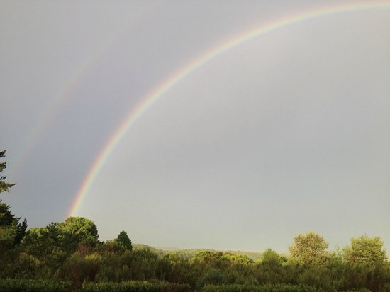 Reflections Eco Reserve: A double rainbow from the cabin