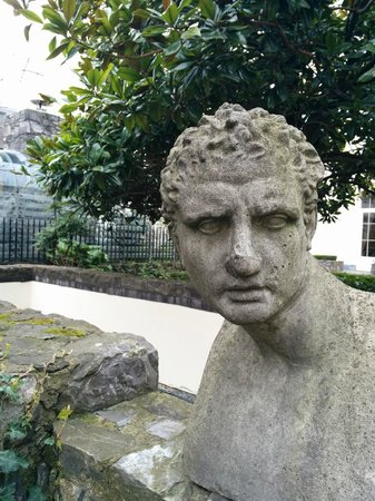 The Merrion Hotel: Trying to match the face to busts from The Long Hall at Trinity College... Aristotle?