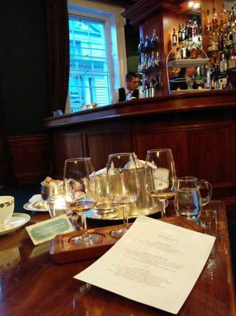 The Merrion Hotel : Wanted to learn Whiskey so we ordered the Jameson Flight - and Charles gave us a thorough tutori