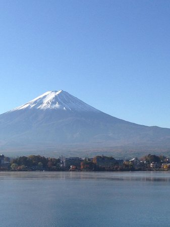 Kozantei Ubuya: View of Mt Fuji in the morning from the ryokan entrance