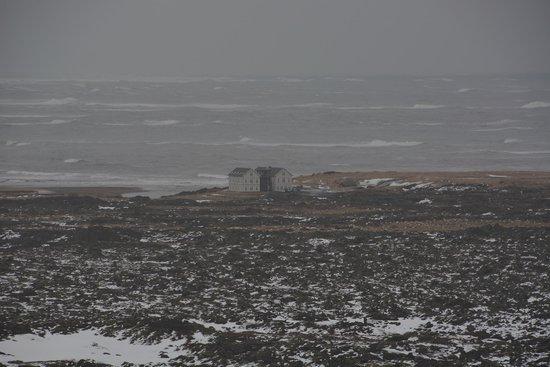 Hotel Budir: Sicht auf Hotel (Winter