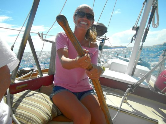 Morningstar Sailing and Power Charters : Bridget does it all.