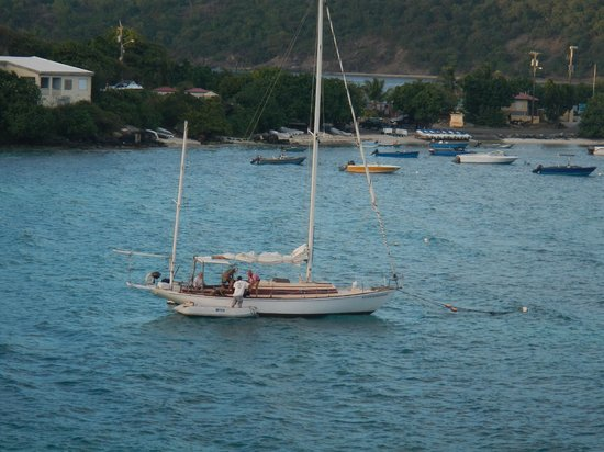 Morningstar Sailing and Power Charters : The Winifred from our condo balcony