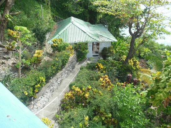 Noel Coward's Blue Harbour: View of Villa Chica from Main House/Dining Porch