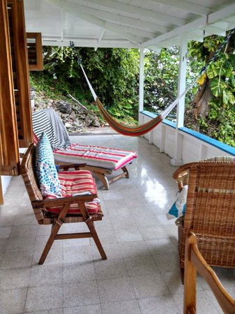 Noel Coward's Blue Harbour: Villa Chica Veranda facing the sea