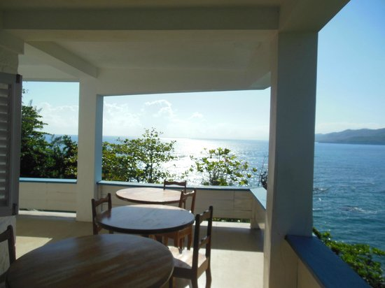 Noel Coward's Blue Harbour: Dining porch at the main house