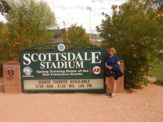 Scottsdale Stadium: Entrance sign
