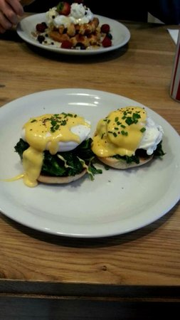Made By Jonty Eggs Florentine And Waffles
