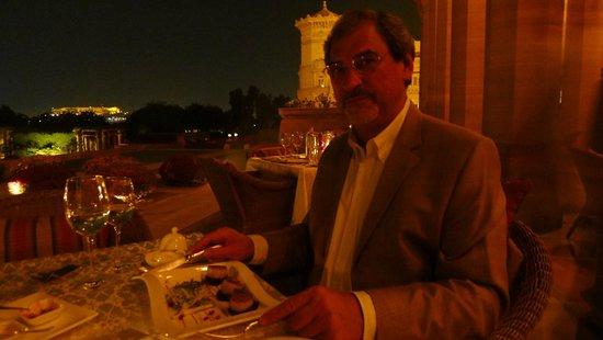 Umaid Bhawan Palace Jodhpur: Die Terrasse des Restaurants