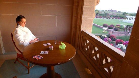Umaid Bhawan Palace Jodhpur : Terrassenblick der Royal Suite
