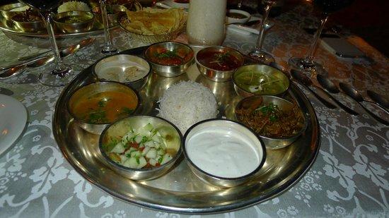 Umaid Bhawan Palace Jodhpur : Indisches Speiseangebot des Restaurants