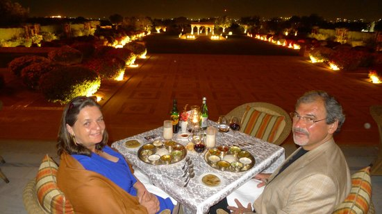 Umaid Bhawan Palace Jodhpur : Die Terrasse des Restaurants