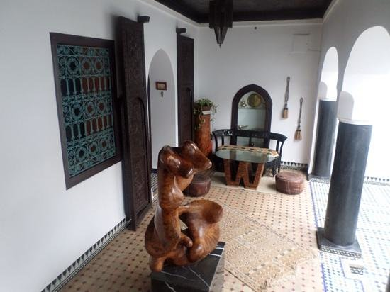 Riad El Mansour : Outside the Amber Suite - lovely for having mint tea.