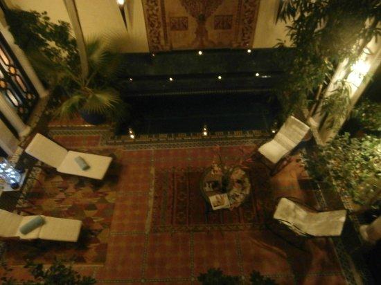 Riad 58 Blu: main courtyard ground floor