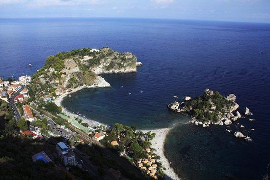 Lido Mediterranee Hotel : Вид из города на лагуну