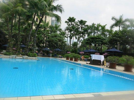 Pool at the pen picture of the peninsula manila makati for Affordable pools near metro manila
