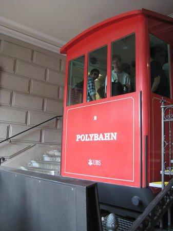 Sorell Hotel Rütli: The polybahn car