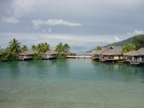 InterContinental Moorea Resort & Spa : View from Beach Bungalow